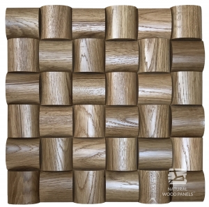 Panel drewniany 3d  - Wave – Dąb - Natural Wood Panels