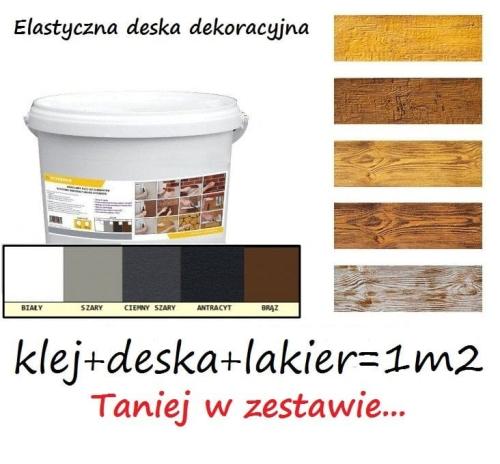 Elastyczna Deska Dekoracyjna Imitacja Drewna System 1m2 Klejdeskalakier